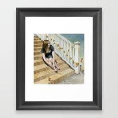 Golden Fish Ladder Framed Art Print
