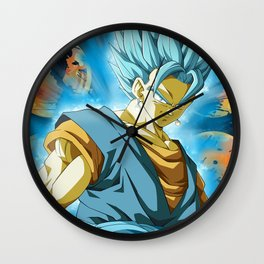 Vegeto Blue Wall Clock