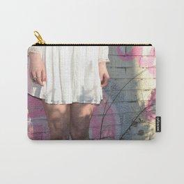 Graffiti Dress - Pink City Brick Vintage Style Fashion Girl Carry-All Pouch