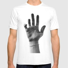 Working Hands (I Dye) Mens Fitted Tee White MEDIUM