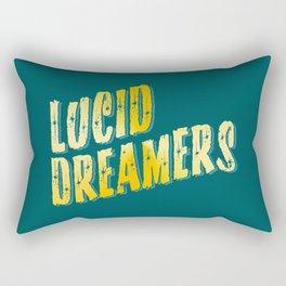 Lucid Dreamer (Gold) Rectangular Pillow