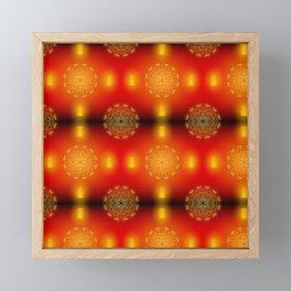 Golden mandala with lantern #diwali Framed Mini Art Print