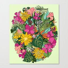 Tropics and Plants Canvas Print
