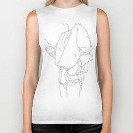 Fashion illustration line drawing - Cal Biker Tank