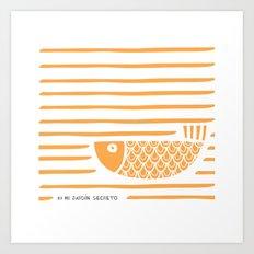 PIXE 2 (light orange) Art Print