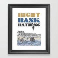 Right bank bathing Framed Art Print