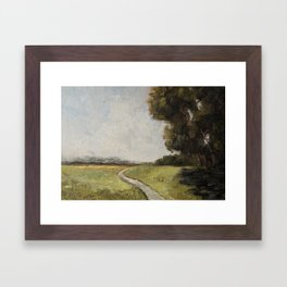 winding path Framed Art Print