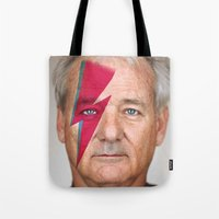 murray Tote Bags featuring bill murray by lapinette