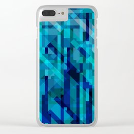 abstract composition in blues Clear iPhone Case