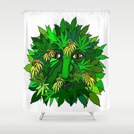 Marijuana Greenman Shower Curtain
