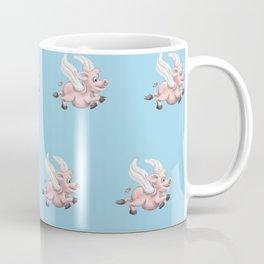 flying pigs blue Coffee Mug