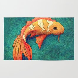 Golden Koi Rug