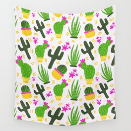 Cactus Pattern of Succulents Wall Tapestry