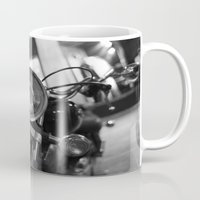 motorcycle Mugs featuring Motorcycle by James Tamim