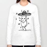 potato Long Sleeve T-shirts featuring Dancing potato by Pauline Jurkevičius