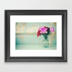 Retro Roses Framed Art Print