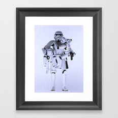 Trooper with Kids Framed Art Print
