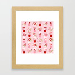 Coffee valentines day florals cute coffee lovers gifts that say i love you Framed Art Print