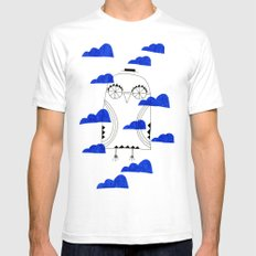 Blue Clouds White Mens Fitted Tee SMALL
