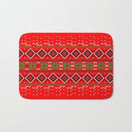 Christmas Pattern Bath Mat