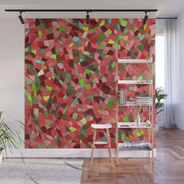 Red stained glass Wall Mural
