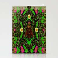grafitti Stationery Cards featuring Lady Pandas Jungle grafitti by Pepita Selles