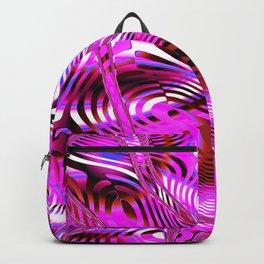 Dynamic Pink Fractal Backpack