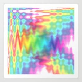 I Bleed Rainbows and Glitter Art Print