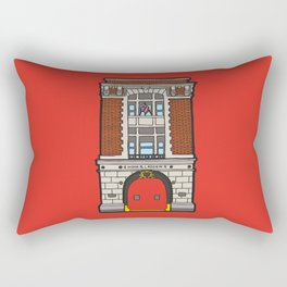 Ghostbusters Fire Station Rectangular Pillow