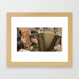 German Street Musicians Framed Art Print