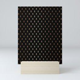 BLACK & ROSE GOLD SKULLS ALL OVER PRINT LARGE Mini Art Print