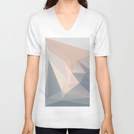 Dora 1 — Poster, scandinavian, art, art print, geometric, pastel, low poly, art pastel, drawings Unisex V-Neck