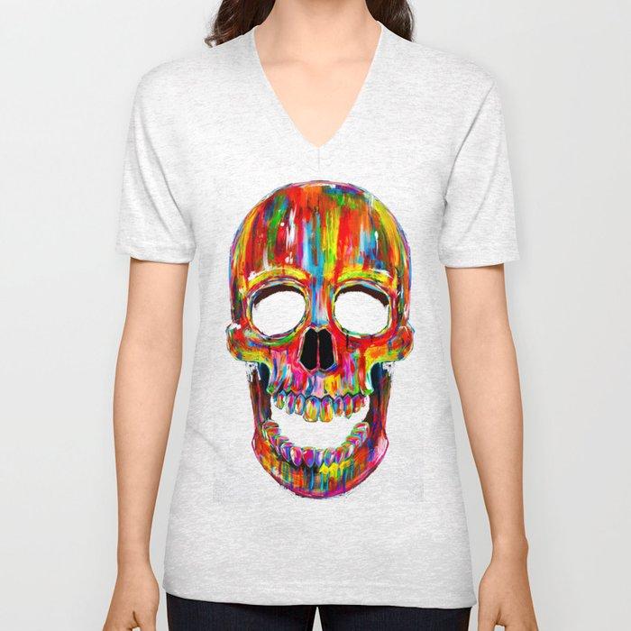 Chromatic Skull Unisex V-Neck