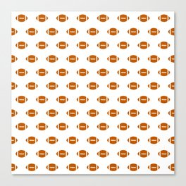 Texas longhorns orange and white university college texan football pattern Canvas Print