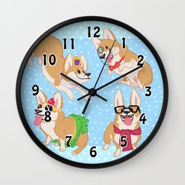 For the Love of Corgis Wall Clock