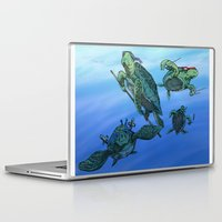 ninja turtles Laptop & iPad Skins featuring Ninja Turtles by MrDenmac