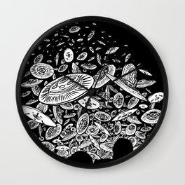 The Day the Saucers Came Wall Clock