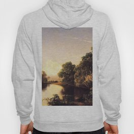 On The Esopus Creek Ulster County New York 1859 By David Johnson   Reproduction   Romanticism Landsc Hoody