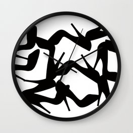 Shoe Fetish (Version 2) High Heel Shoe Art Wall Clock