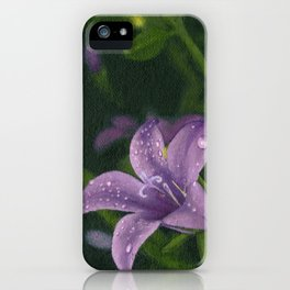 Purple lily flower iPhone Case