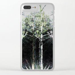 Tropical Plants 2 Clear iPhone Case