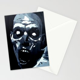 Hungry Zombie- Abstract Zombie Painting Stationery Cards
