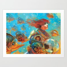 Gold Sea Art Print