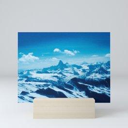 Winter Wonderland up in the Mountains #1 #art #society6 Mini Art Print