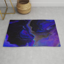 Dark Purple Blue Galaxy - Midnight Shades Rug