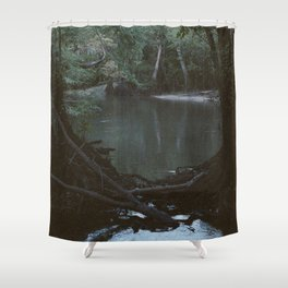 Drabby Swampy Creek Shower Curtain