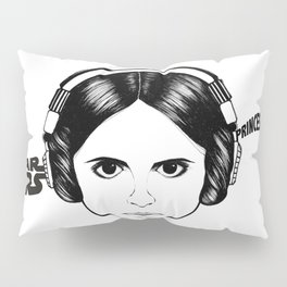 Illustration & recreate portrait of Princess Leia from starwars in black and white Pillow Sham