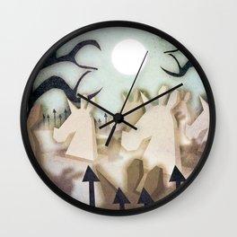 Unicorn Cemetery Wall Clock