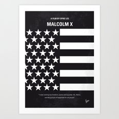 No250 My MALCOLM X minimal movie poster Art Print