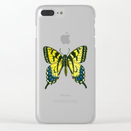 Tiger swallowtail butterfly watercolor and ink Clear iPhone Case